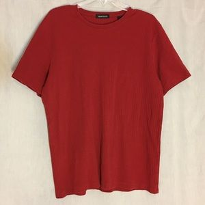 Brandini Maroon Red Short Sleeve Knit Top Size XL